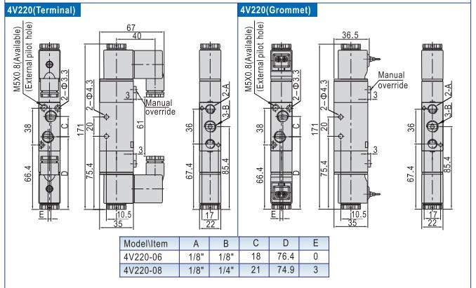 Van Điện Từ Airtac 4V220-06