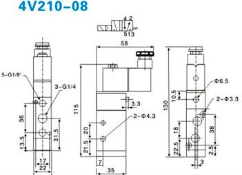 Van Điện Từ Airtac 4V210-08